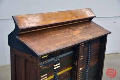 Hamilton Letterpress Typekit Cabinet - 051021092742