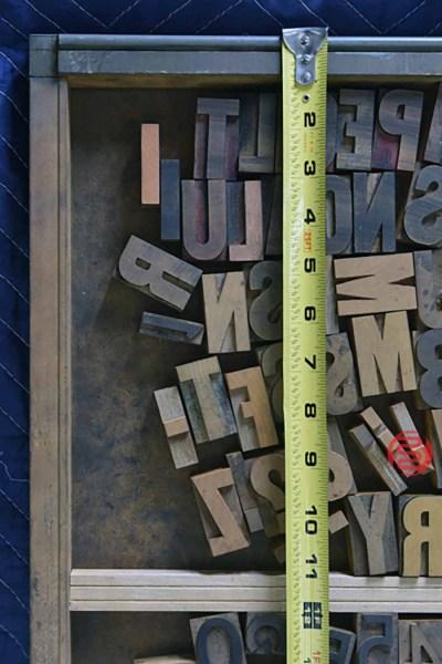 Letterpress Font Wood Type - 050421013946