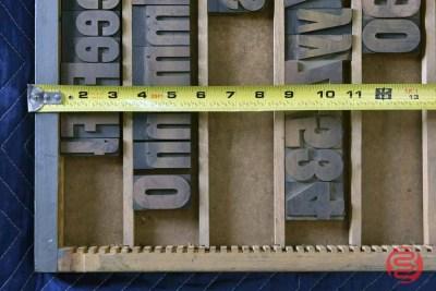 Letterpress Font Wood Type - 050421014521