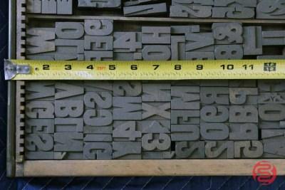 Letterpress Font Wood Type - 050421023034