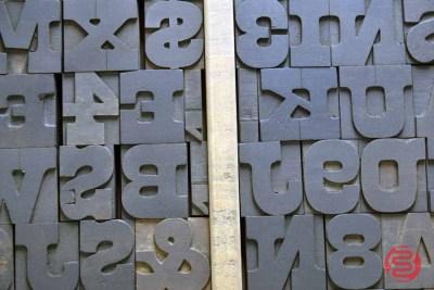 Letterpress Font Wood Type - 050421031533