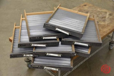 Typekit Letterpress Drawers (Qty - 8) - 050421041533
