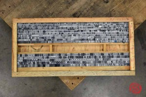 Assorted Letterpress Font Metal Type - 062821093012