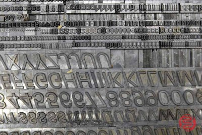 Assorted Letterpress Font Metal Type - 062821102239