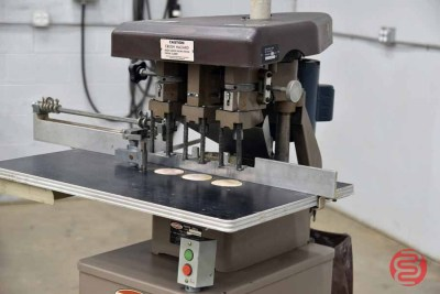 Challenge EH-3A Three Spindle Hydraulic Paper Drill - 061621031446