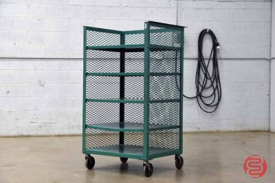 Five Shelf Rolling Paper Cart - 052821124055