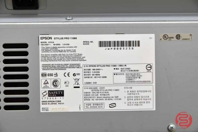 2010 Epson Stylus Pro 11880 64in Large-Format Inkjet Printer - 072021015611