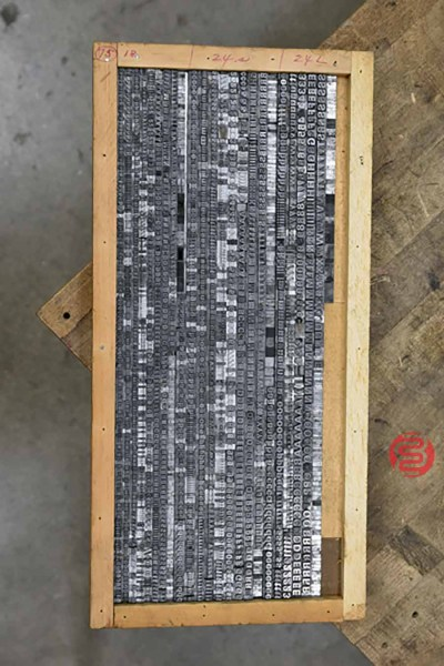 Assorted Letterpress Font Metal Type - 063021034355