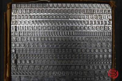 Assorted Letterpress Font Metal Type - 063021041232