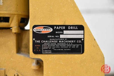 Challenge JO Tabletop Single Spindle Paper Drill - 072921014720
