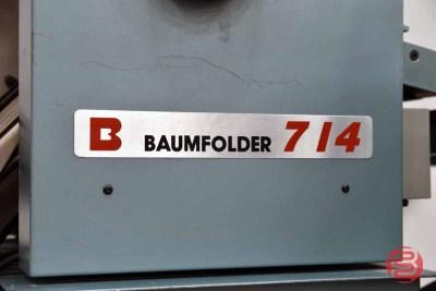 Baum 714 Vacuum Feed Paper Folder w/ Right Angle Fold - 081321111155