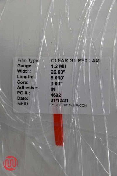 Clear GL Pet Lamination Film (8,000ft) - 080221012817