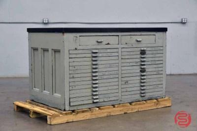 Hamilton Letterpress Typekit Cabinet - 082521121731