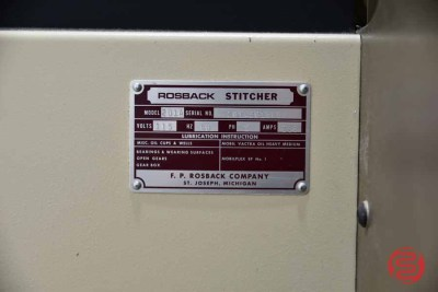 Rosback 201A Book Binding Saddle Stitcher - 081321094911