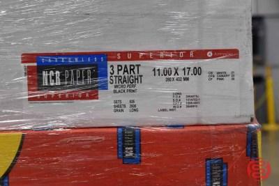 Superior Carbonless 11 x 17 3 Part Straight Micro Perf Black Print Paper - 082021091525