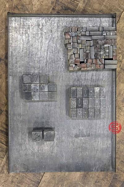 Assorted Letterpress Font Metal Type - 091021023550