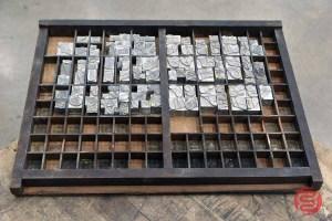 Assorted Letterpress Font Metal Type - 091021115312