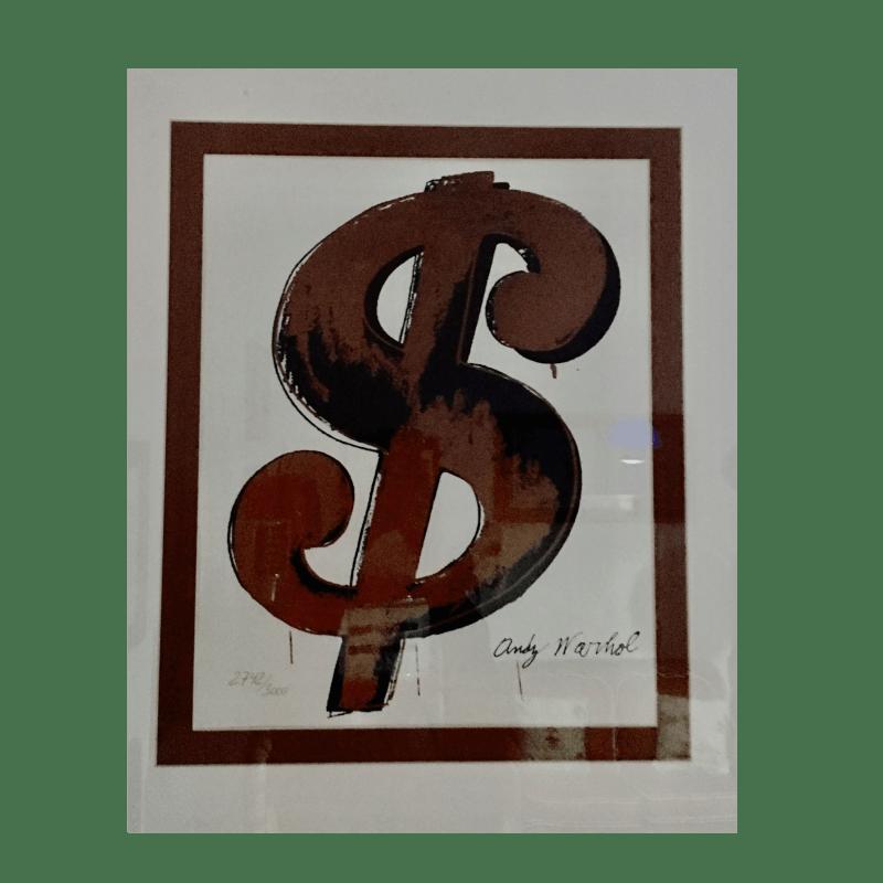 Andy Warhol Serigrafia Dollaro