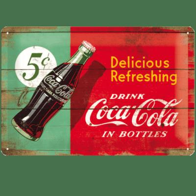 Targa Coca Cola in latta metallo