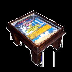 Tavolino rettangolare in legno scuro