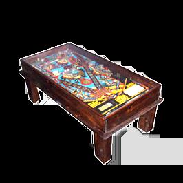 Tavolo flipper legno scuro