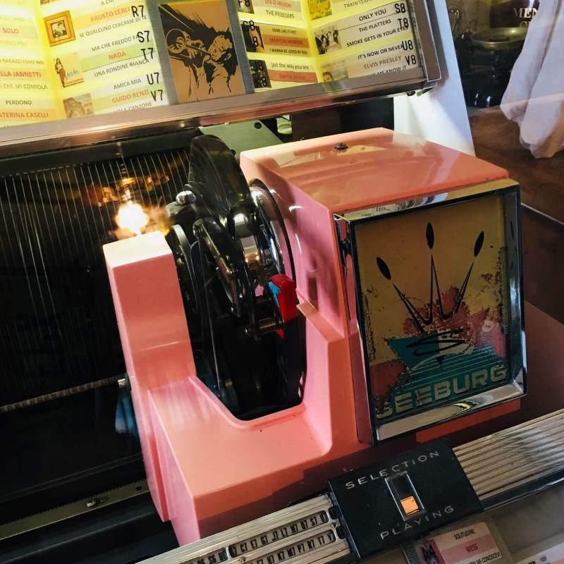 Jukebox Seeburg 220 dettaglio