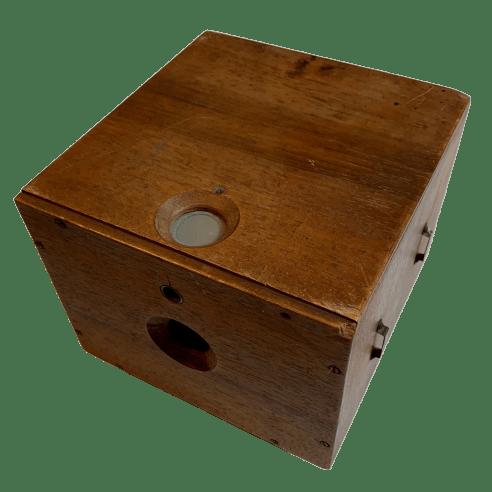 Box Camera in legno vintage