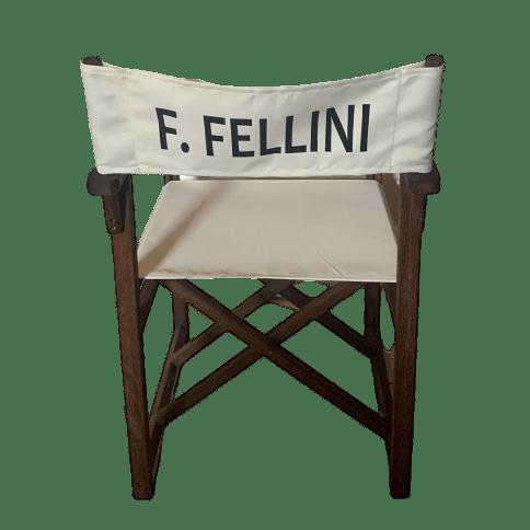 Sedia da regista Fellini