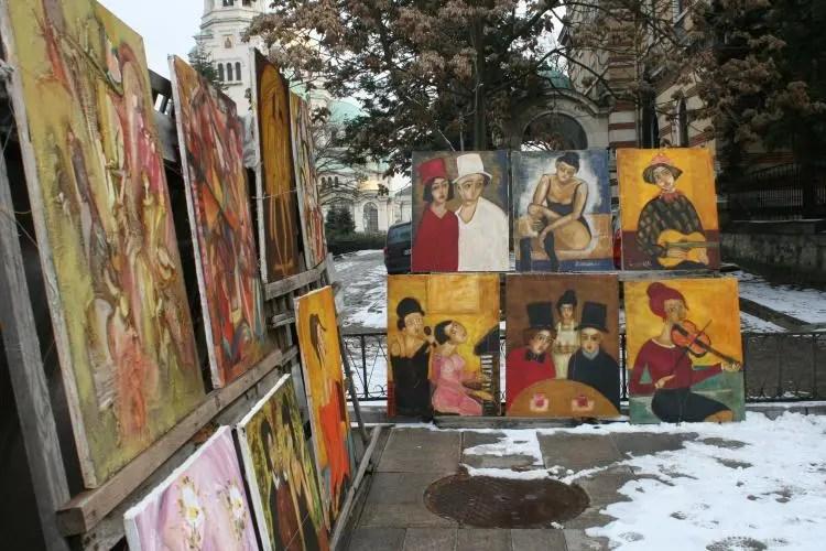 Alexander Nevsky Flea Market Bulgaria Sofia