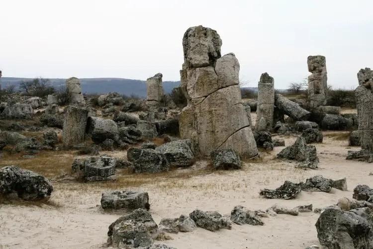 Het stenen woud nabij Varna in Bulgarije
