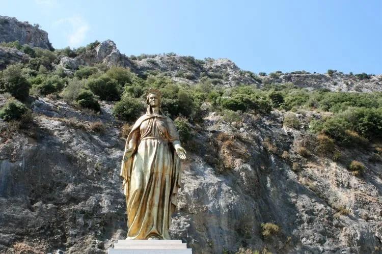 Het huis van heilige maagd Maria een bedevaartsoord in Turkije