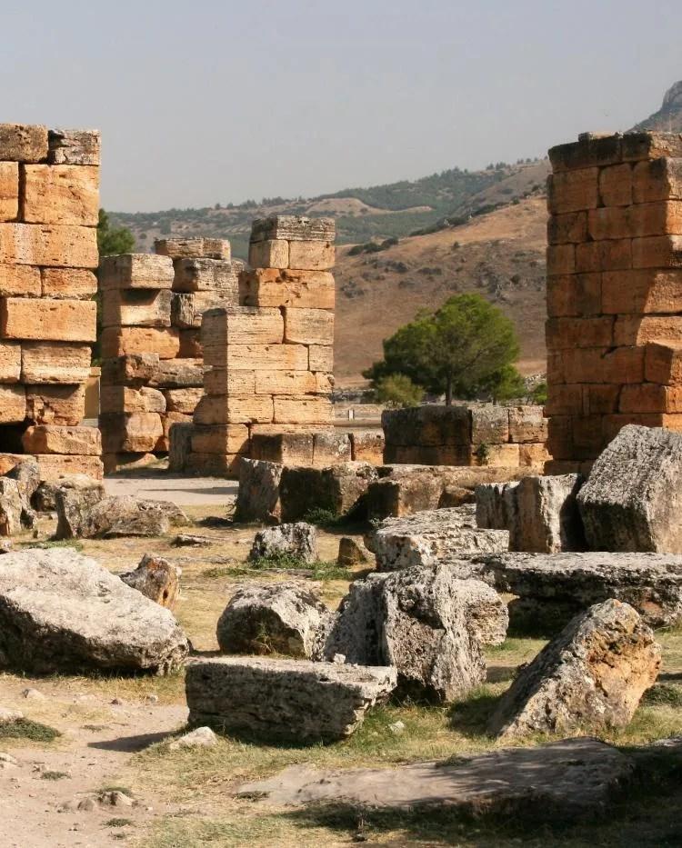 Hiërapolis bijPamukkale in Turkije
