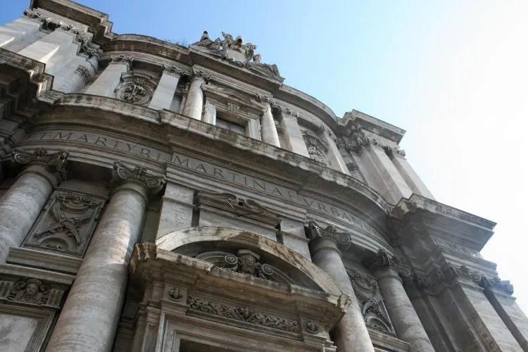 De Santi Luca en Martina Kerk in Rome