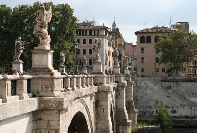 Uitzicht over de Tiber in Rome