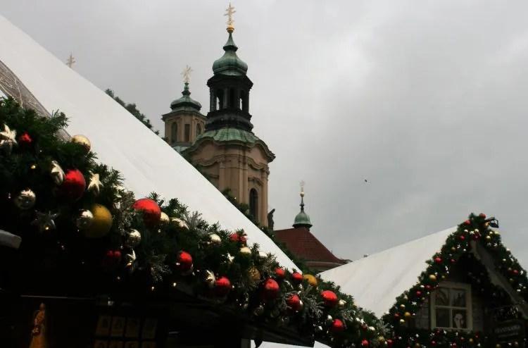 De kerstmarkt in Praag