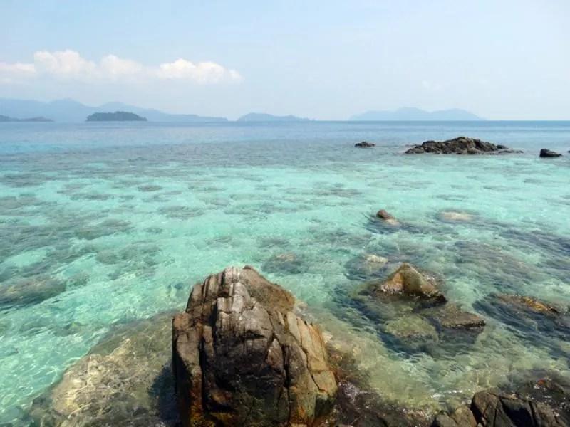 Uitzicht vanaf Koh Wai