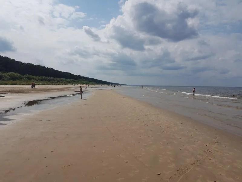 Stranden in Letland