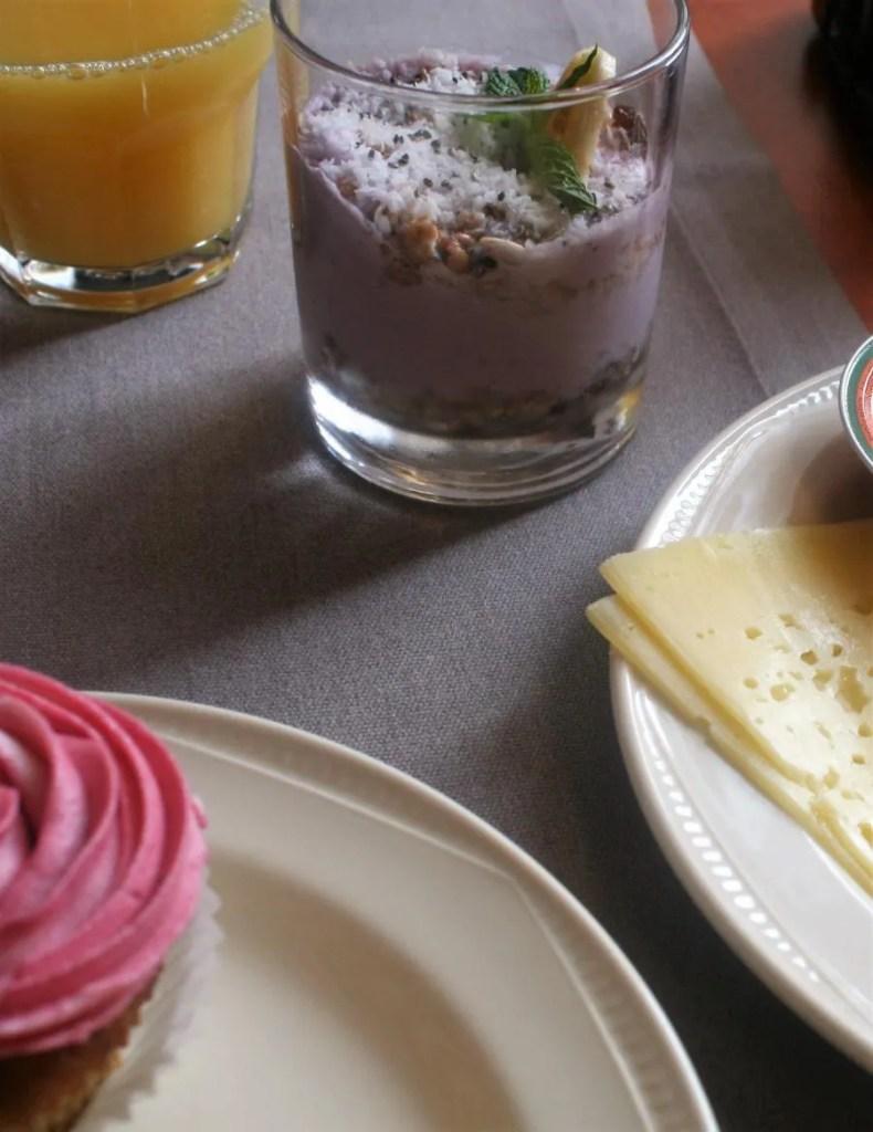 Cupcakes ontbijt bij hotel Mrak in Ljubljana