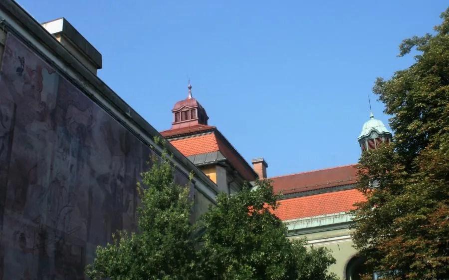 De groene stad Ljubljana
