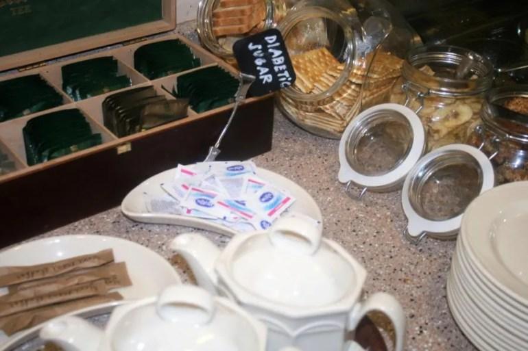 Ontbijt bij hotel Mrak in Ljubljana