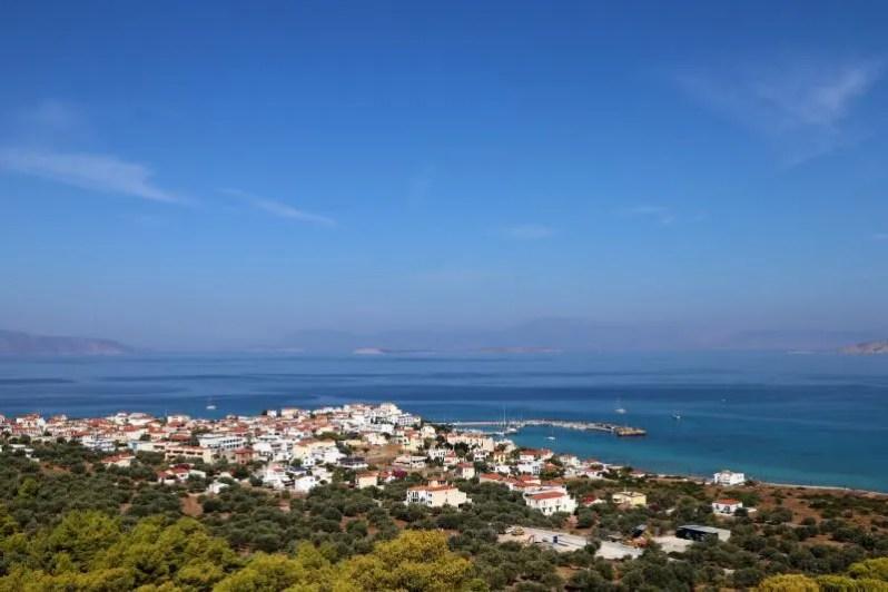 Hiken op Agistri in Griekenland