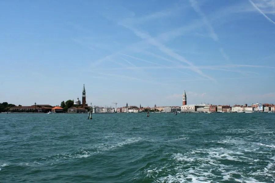 Het eiland San Giorgio in de lagune van Venetië