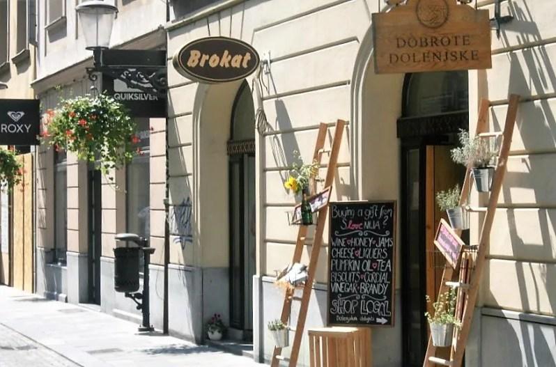 Winkels in Ljubljana