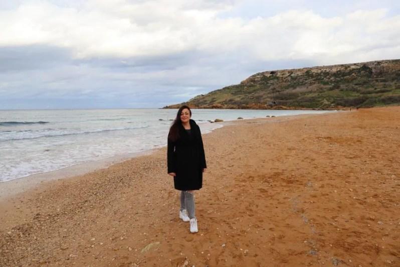 Het strand Ramla Bay in Gozo