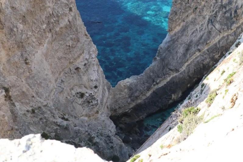 Uitzicht van Xaqqa Valley in Malta
