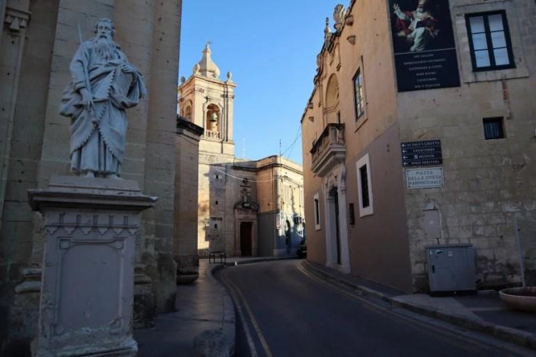 Het centrum van Rabat op Malta
