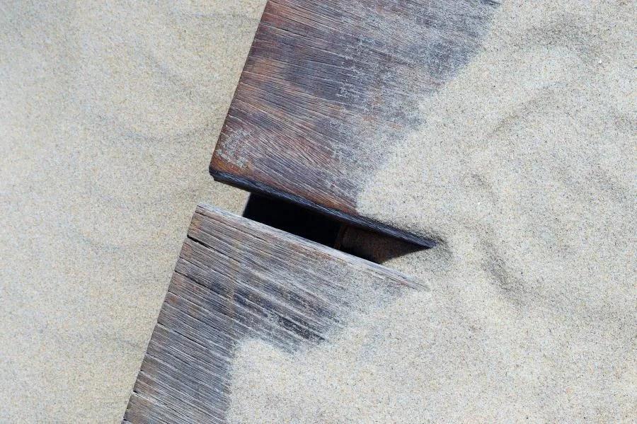 Zand op het strand van Petten