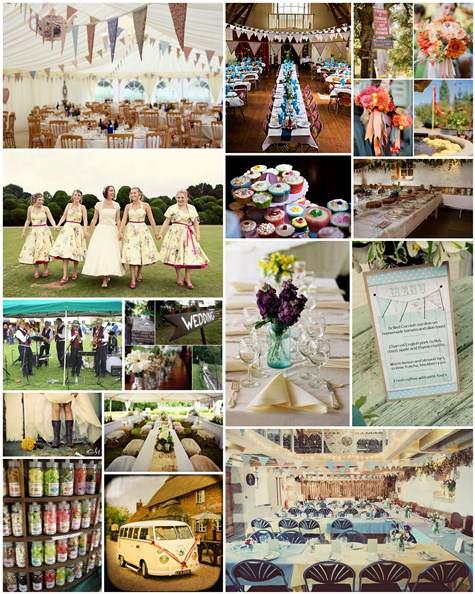 Inspiration Board Village Fete Wedding Boho Weddings