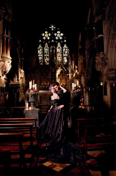 gothic bridal shoot