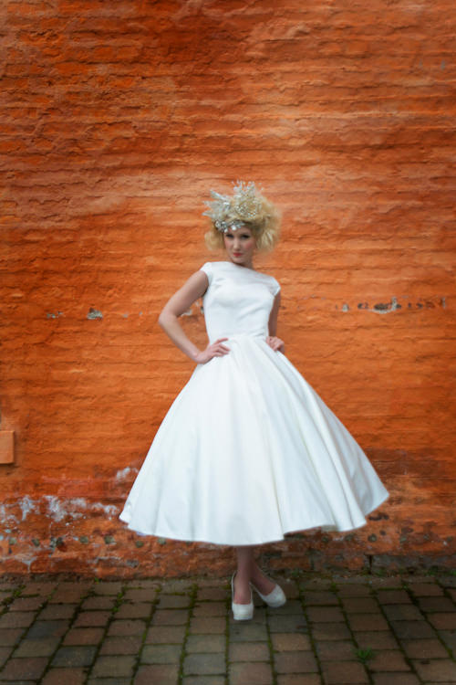 1950's inspired tea length dress